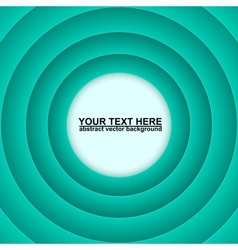 Aquamarine circles abstract background vector image
