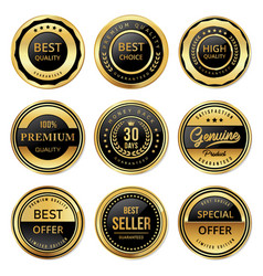 best and high quality labels vector image
