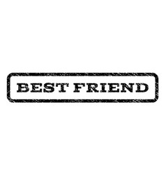 Best friend watermark stamp vector