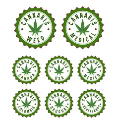 cannabis stamps vector image