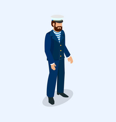 captain of a sea voyage as a professional vector image vector image