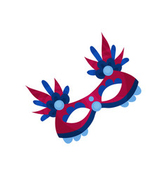 carnival face masks vector image