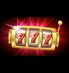 casino slot machine banner casino game vector image