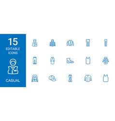 casual icons vector image