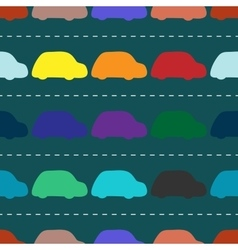children retro cars seamless background pattern vector image