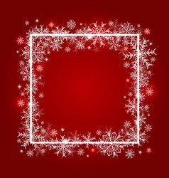 christmas background design of snowflake vector image