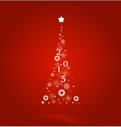 Christmas background with bright Christmas tree vector image