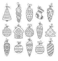 christmas balls decorative winter season toys vector image