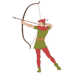 Classic archer eps vector
