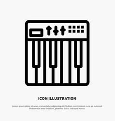 Controller hardware keyboard midi music line icon vector