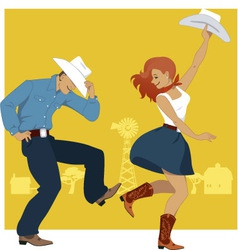 Country Western Dance vector
