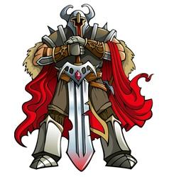 Crusader knight vector image