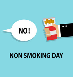 day of refusal of cigarettes and smoking vector image