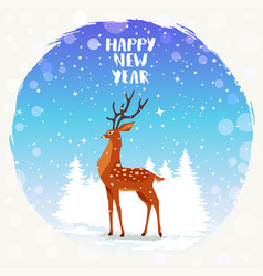 deer holidays vector image