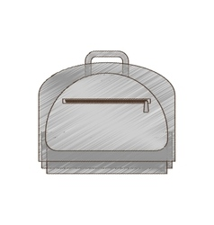 Drawing baggage travel business handle vector