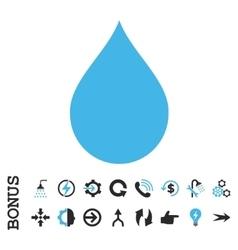 Drop Flat Icon With Bonus vector image