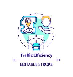 Ev traffic efficiency concept icon vector