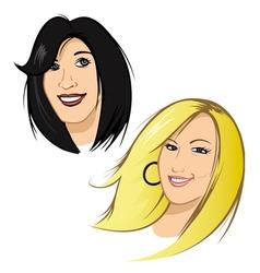 female heads vector image