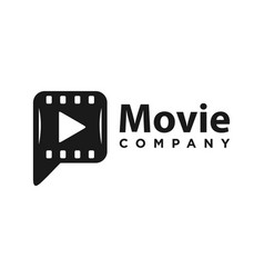 film symbol logo design writing p vector image