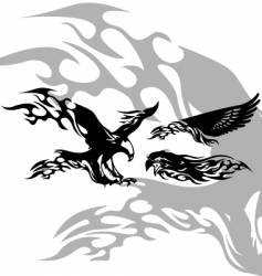 fire eagle vector image