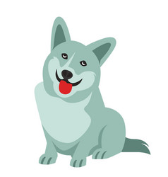 funny little dog vector image