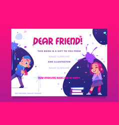 gift book banner present card to child flyer vector image