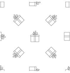 gift box pattern seamless vector image