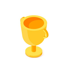 Golden cup icon vector