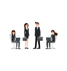 group of business people in suits vector image