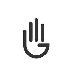 Hand logo template design vector