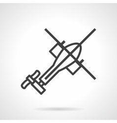 Helicopter black outline icon vector image