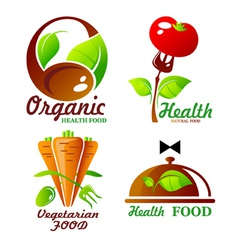 icons and symbol for organic food vector image