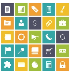 Icons plain tablet business commerce vector