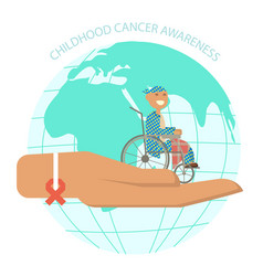 International childhood cancer day banner vector