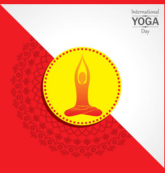 International yoga day greeting vector