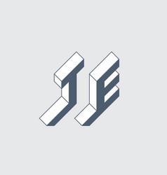Isometric 3d font for design volume alphabet vector