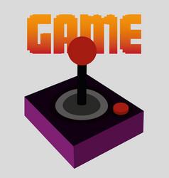 joystick control design vector image