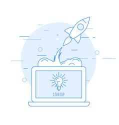 Launch new business - sturtup beginning vector