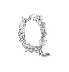 letter q floral ornament vector image