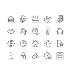 Line Smart House Icons vector