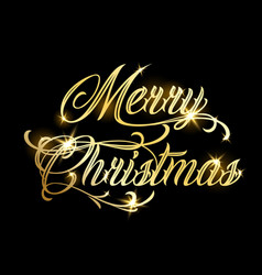 merry christmas and happy new year 2019 gold vector image