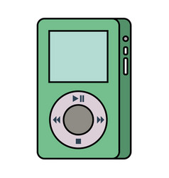 Mp player device for listening to music vector