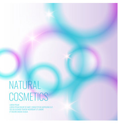 Natural cosmetics background vector
