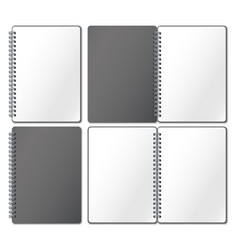 notebook mockup empty copybook notebooks pages vector image