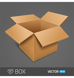 Opening cardboard box EPS 10 vector image