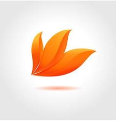 Orange flower vector