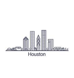 outline houston banner vector image