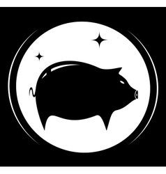 Pig silhouette - meat food symbol vector