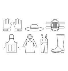 Protective clothing for working in the garden vector