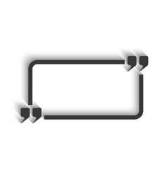quote and rectangle frame for text isolated mockup vector image